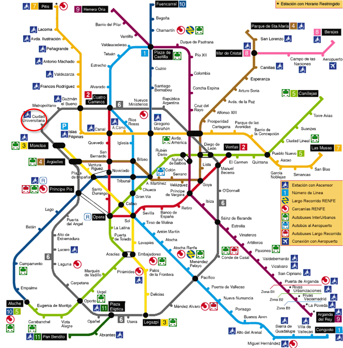 Subway Map Of Madrid Spain.Lmbw 2010